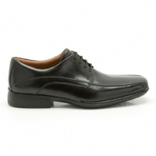 Clarks Mens Francis Air Black Leather Shoes
